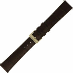 Morelatto Horlogebandje Croco Bruin 20mm