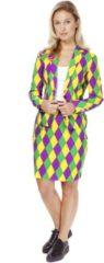 Paarse Opposuits Circus Kostuum | Circus Harlequeen Opposuit | Vrouw | Maat 40 | Carnaval kostuum | Verkleedkleding