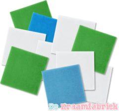 Turquoise Funnies Spuugdoekjes - Pakket van 10 + 1 gratis