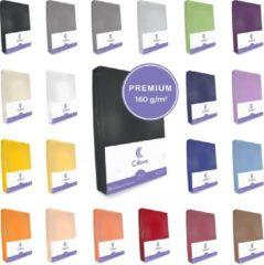 Cillows Premium Jersey Hoeslaken voor Matras - 90x200 - 100x220 cm - (tot 25 cm hoogte) – Zwart
