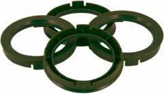 Universeel Set TPI Centreerringen - 67.1->65.1mm - Olive Groen