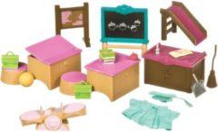 Li'l Woodzeez Klaslokaal En Speelplaatsset 21-delig