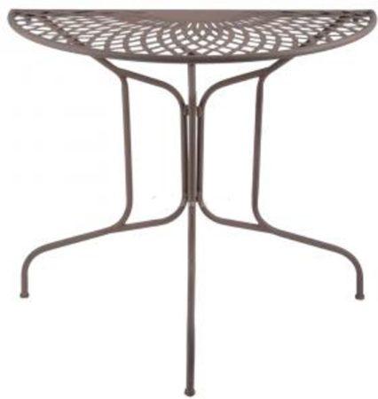 Afbeelding van Esschert design Tuintafel halfrond metaal Old Rectory