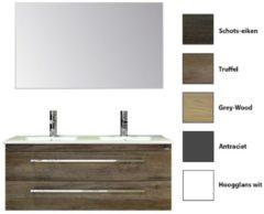 Badkamermeubelset Sanicare Q1 Twee Soft-Close Laden 120 cm (alle kleuren, spiegel optioneel)