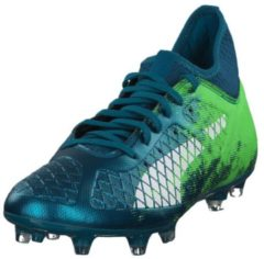 Fußballschuh Future 18.3 FG/AG mit Spandex-Fersen-Konstruktion 104328-01 Puma Deep Lagoon-Puma White-Green Gecko