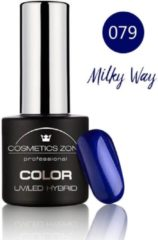 Blauwe Cosmetics Zone UV/LED Hybrid Gel Nagellak 7ml. Milky Way 079