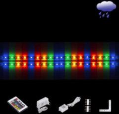 Witte EGLO Ledstrips - Flex - Coated - RGB Kleur - Afstandsbediening - L 2x600mm + hoek