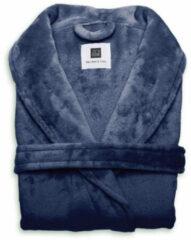 Blauwe Zo! Home ZoHome Cara Badjas Lang - Fleece - Maat XL - Indigo Blue