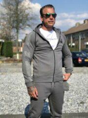 Grijze Merkloos / Sans marque Aansluitend model Sportief Heren Vest Maat XL