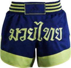 Adidas Kickboksbroek Blauw Unisex Maat S