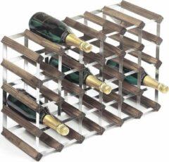 RTA Wineracks - Wijnrek Verzinkt - Dark Oak - 30 Bottle Assembled 6x4