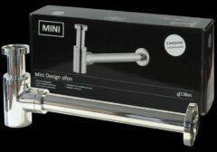 Best Design sifon mini design 5/4 aansluiting compleet met muurbuis en rozet chroom 3871131