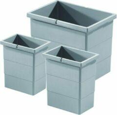 Hailo Afvalsysteem Separato 2x7+15 Liter kleur grijs