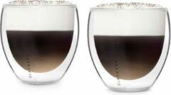 Klarstein Glaswerk Altino Set van 2 dubbelwandige thermoglazen 250 ml - handgemaakt borosilicaatglas - Isolerende werking
