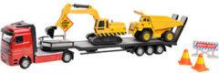 Auto 2-Play dieplader en 2 constructievoertuigen - Speelgoedauto 2Play