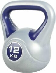 Blauwe Gorilla Sports Kettlebell 12 kg Kunststof Trendy (extra stabiel)