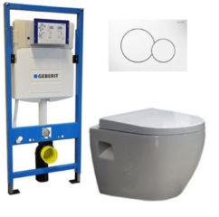 Douche Concurrent Geberit UP 320 Toiletset - Inbouw WC Hangtoilet Wandcloset - Daley Sigma-01 Wit
