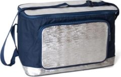 Gerimport Koeltas 39 X 26 Cm 18 Liter Polyester Blauw/zilver