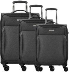 Travel Line 7304 4-Rollen Kofferset 3tlg. D&N schwarz