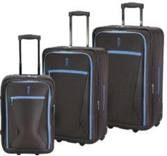 Travel Line 9300 2-Rollen Kofferset 3tlg D&N schwarz-blau