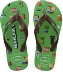 Havaianas Slippers - Maat 31/32 - Unisex - groen/bruin