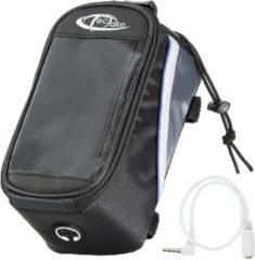TecTake - Frametas fietstas voor o.a. smartphone e.d. zwart blauw L 401612