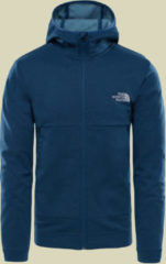 The North Face Tech FZ Hoodie Men Herren Fleecejacke Größe M blue wing teal