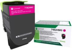 Lexmark Tonercassette CS/CX 417,517 Return Cartridge 71B2HM0 Origineel Magenta 3500 bladzijden