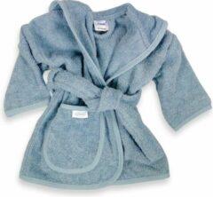 Blauwe Funnies badjas grey/blue | funnies badjas | badjas 0-1 jaar | 100% zuivere katoen, badstof | baby | na het zwemmen | na het douchen
