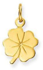 Gele Glow Gouden Hanger/Bedel Klaver-4 Geluk 230.0038.00
