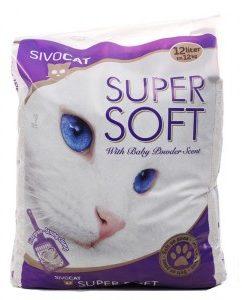 Afbeelding van Sivocat Supersoft Kbv Met Babypoeder - Kattenbakvulling - 12 l