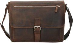 Salisbury Umhängetasche Leder 34 cm Laptopfach Leonhard Heyden braun