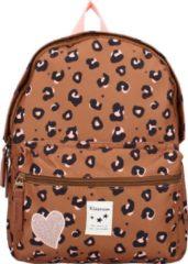 Bruine Kidzroom Attitude Backpack S taupe backpack