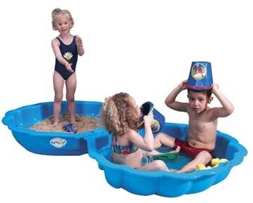 Afbeelding van Paradiso Toys zandbak schelpen 102 x 88 cm blauw 2 delig