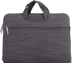 Mac-cover.nl Denim laptoptas 12 inch - Grijs