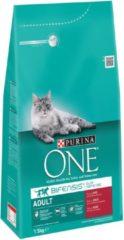 Purina One Adult - Rund/Volkoren Granen - Kattenvoer - 1.5 kg