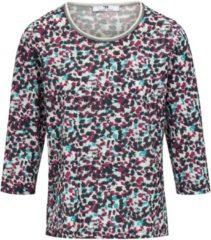 Shirt met ronde hals en 3/4-mouwen Van Peter Hahn multicolour