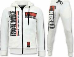 Local Fanatic Exclusieve Heren Joggingpak - Iron Mike Tyson Boxing - Wit - Maat: S