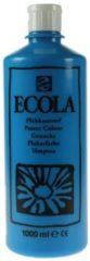 Plakkaatverf Talens ecola flacon van 1.000 ml, lichtblauw