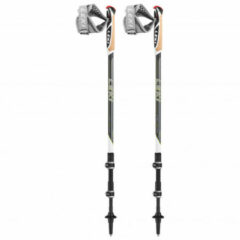 Leki - Traveller Carbon - Stokken voor nordic walking maat 90 - 130 cm, dunkelanthrazit /groen