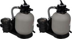 Grijze VidaXL Zandfilterpompen 2 st 600 W 17000 L/u