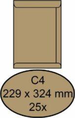 Cleverpack Envelop clevermail akte c4 229 x 324 80 gr 25 stuks bruin