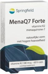 Springfield MenaQ7 Forte Vitamine K2 180mcg Capsules 60st