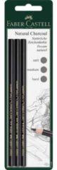 Faber Castell Houtskool Faber-Castell Pitt Monochrome 3 stuks op blister