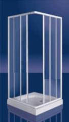 Plieger Class douchecabine hoekinstap 3 mm glas 80/90x185 cm aluminium