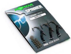 """""""Korda Spinner Hook Sections Krank- Barbless - Maat 4 - 3 Stuks - """""""