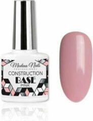 Roze Modena Nails Construction Base Coat Gellak Pink 7,3ml.