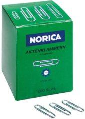 NORICA Bureauklemmen 1554468 24 mm Zilver 1000 stuks