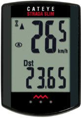 Zwarte Cateye Strada Slimline fietscomputer en sensor voor racefietsen - Fietscomputers