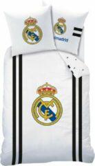 Real Madrid CF Real Madrid Maillot Dekbedovertrek - Eenpersoons - 140 x 200 cm - Wit